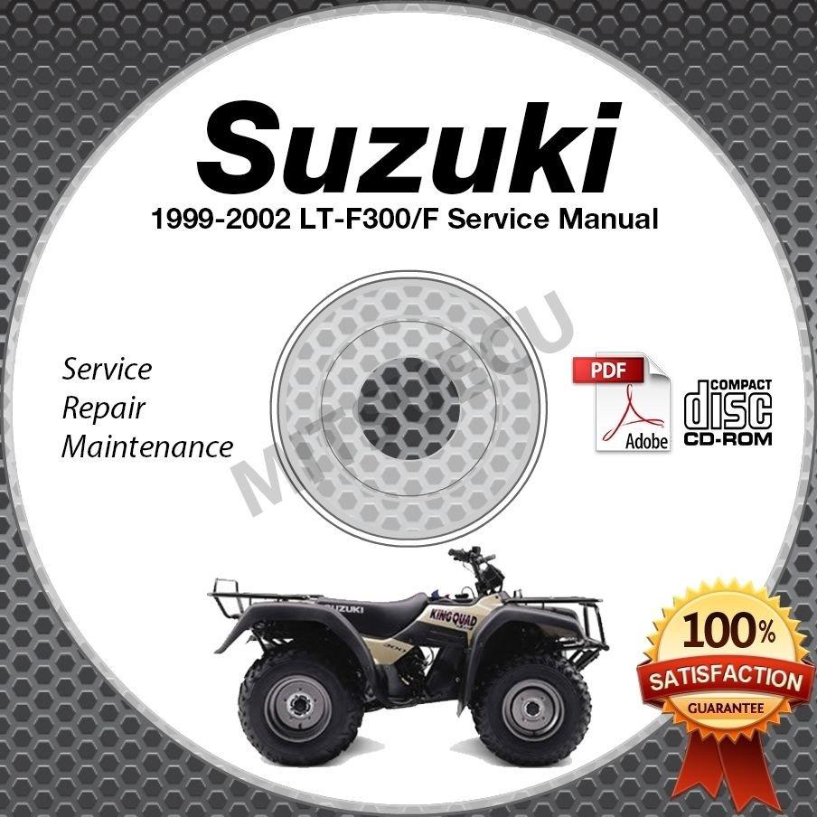 1999-2002 Suzuki LT-F300 LT-F300F King Quad 300 Service Manual CD 2000 2001 ATV