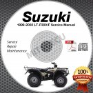 1999-2002 Suzuki LT-F300 LT-F300F King Quad 300 Service Manual CD 2000 2001 ATV