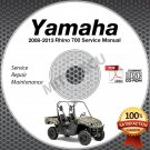 2008-2013 Yamaha RHINO 700 Service Manual CD ROM repair shop LIT-11616-RH-70