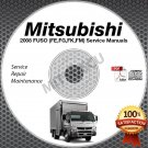 2008 Mitsubishi FUSO Truck FE FG FK FM Service Manual CD ROM repair shop