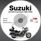 1986-1990 Suzuki GV1400 Cavalcade Models Service Manual CD ROM 1987 1988 1989