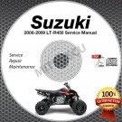 2006 2007 2008 2009 Suzuki LT-R450 QuadRacer Service Manual CD ROM repair shop
