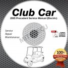 2005 Club Car Precedent Golf Car (ELEC) Service Manual CD ROM repair shop cart