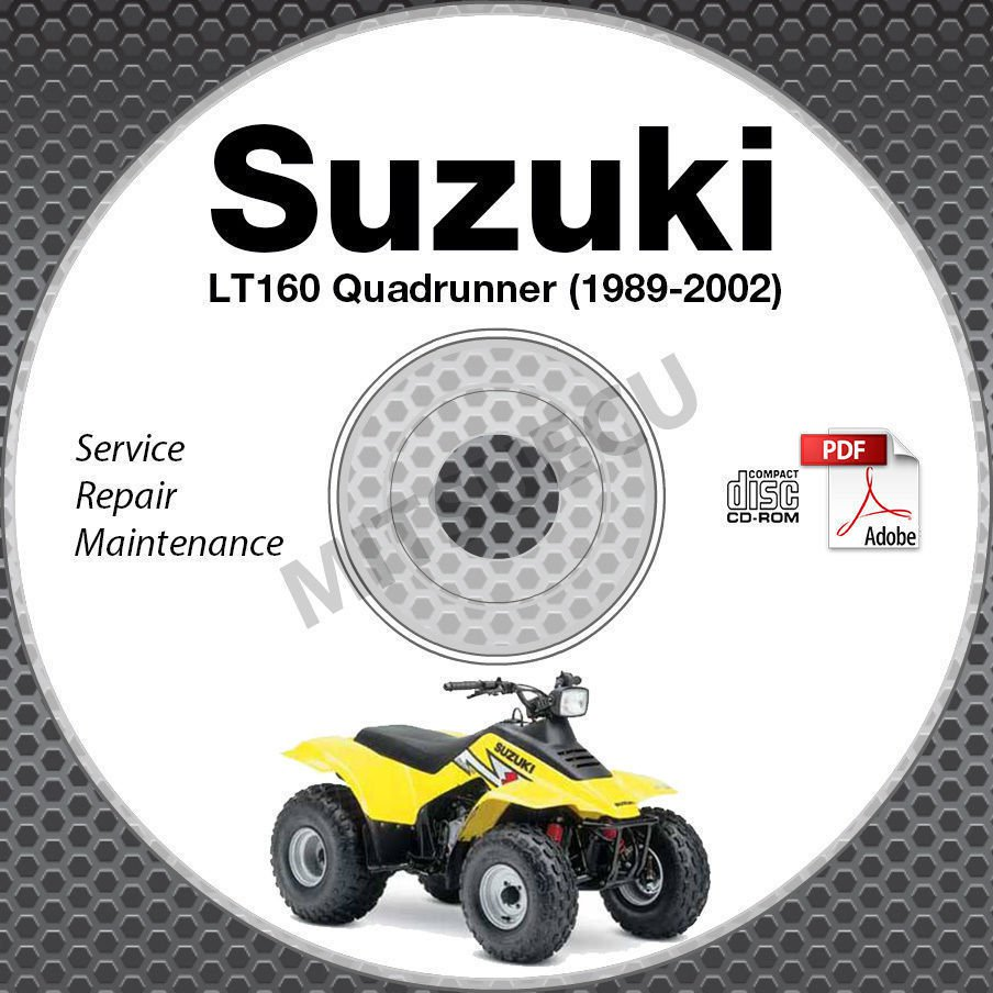 1989 2002 suzuki lt160 lt f160 quadrunner service manual cd atv repair rh ecrater com 1993 Suzuki Quadrunner 160 2003 Suzuki 160 Quadrunner