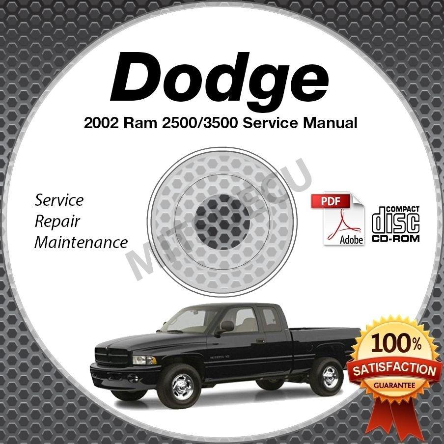 2002 Dodge Ram 2500 and 3500 Trucks (all engines) Service Manual CD shop repair