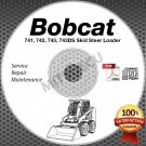 Bobcat 743 742 741 + DS Loader Service Manual CD + Parts + Oper 4 Repair Manuals