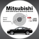 2006-2008 Mitsubishi Eclipse Service Repair Manual CD ROM workshop