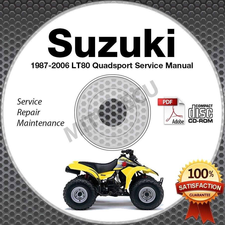 1986-2006 Suzuki LT80 Quadsport Service Manual CD repair 87 88 89 90 91 92 93 94
