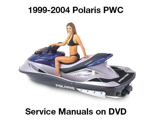 1999-2004 Polaris PWC Service Manual DVD Personal Watercraft repair workshop