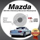 2004 Mazda Miata MX-5 + Mazdaspeed Service Manual CD Workshop Repair 1.8L NB NEW