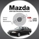 2000 Mazda 626 Service Manual CD ROM 2.0L 2.5L workshop repair