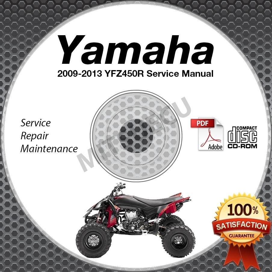 2009-2013 Yamaha YFZ450 / YFZ450R Service Manual CD ROM repair shop 10 11 12
