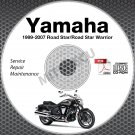 1999-2007 Yamaha ROAD STAR + WARRIOR Service Manual CD repair shop 00 01 02 03