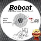 Bobcat 2400 Wheel Loader Hi Definition Service Manual CD ROM repair shop