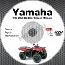 1987-2006 Yamaha BIG BEAR YFM 350 400 Service Manual DVD repair shop 05 04 03 02