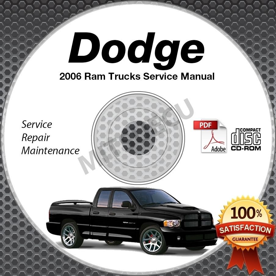 2006 Dodge Ram Truck 1500 2500 3500 4000 DX SRT-10 Service Manual CD shop repair