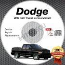 2006 Dodge Ram Truck 1500 2500 3500 4000 DX SRT-10 Service Manual CD shop repair