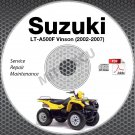 2002-2007 Suzuki LT-A500F Vinson 500 Service Manual CD 2003 2004 2005 2006 atv