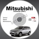 2007 Mitsubishi Outlander Service Manual CD ROM repair workshop