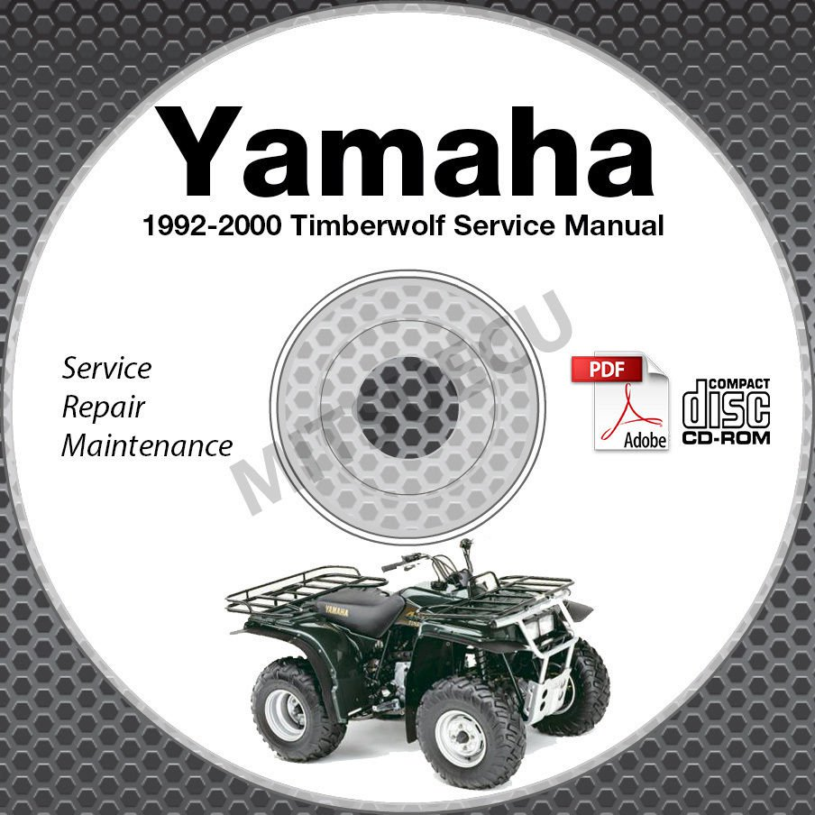 1992-2000 Yamaha Timberwolf YFB250 Service Manual CD ROM repair shop 99 98 97 96