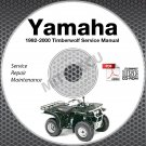 1992-2000 Yamaha Timberwolf YFB250 Service Manual CD ROM repair shop 99 98 97 96