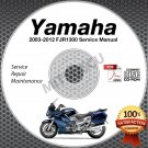 2003-2012 Yamaha FJR1300 (incl. ABS/Elec Shift) Service Manual CD repair shop