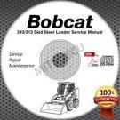 Bobcat 310 / 313 Skid Steer Loader Service Manual CD ROM repair shop