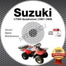 1987-1989 Suzuki LT300 QuadRunner 300 Service Manual CD LT300E LTF300 Repair1988