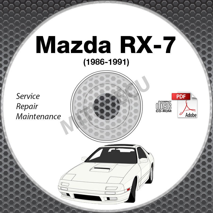1986-1991 Mazda RX7 FC Service Repair Manual CD 1986 1987 1988 1989 1990 1991