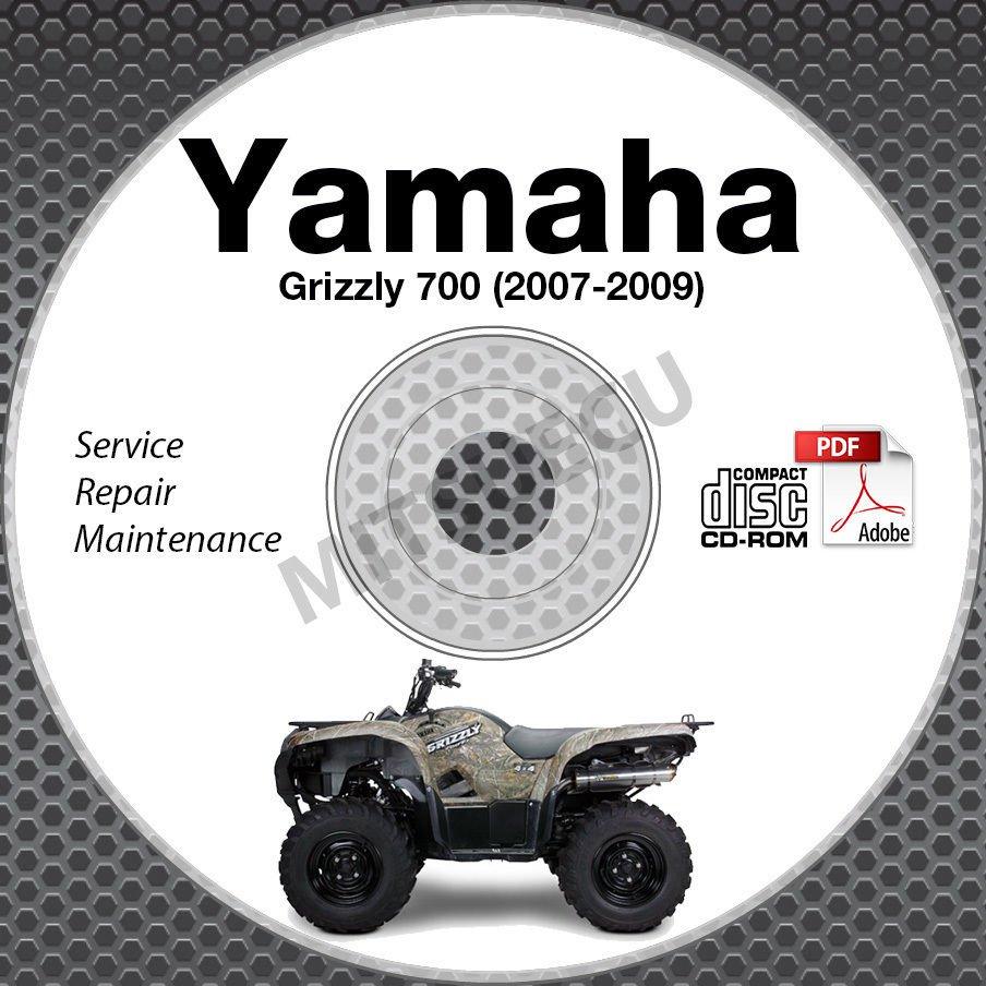 2007-2009 Yamaha Grizzly 700 Service Manual CD ROM repair shop 2008 YFM7FGPW