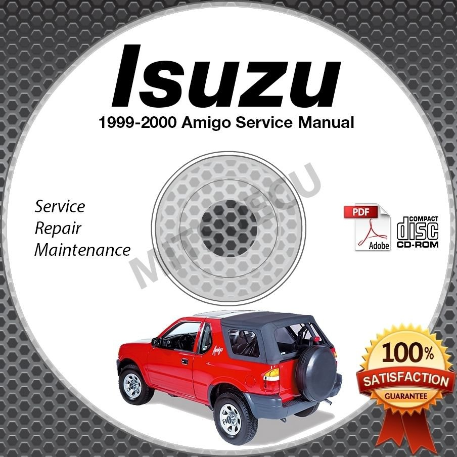 1999 2004 Land Rover Discovery Ii Service Manual Cd Rom: 1999-2000 Isuzu AMIGO Service Manual CD ROM 2.2L 3.2L