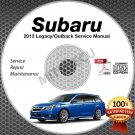 2013 SUBARU LEGACY & OUTBACK Service Manual CD ROM 2.5L 3.6L repair shop