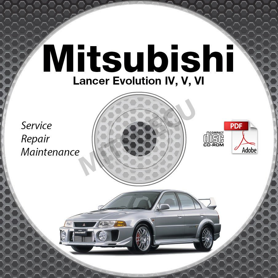 1996-2001 Mitsubishi Lancer Evolution 4 5 6 Service Manual CD repair IV V VI