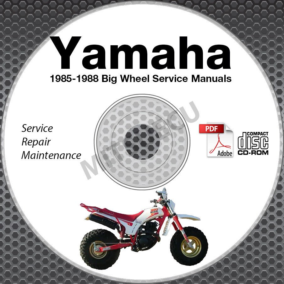 1985-1988 Yamaha BIG WHEEL BW80 BW200 BW350 Service Manual CD repair shop 86 87