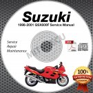 1998-2001 Suzuki GSX600F Katana Service Manual CD ROM Repair 1999 2000 shop