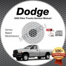 2002 Dodge Ram 1500 3.7L 4.7L 5.9L Truck Service Manual CD shop repair DR