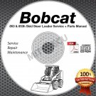 Bobcat 853 853h Skid Steer Loader Service + Parts Manual CD ROM 6720755 6724012