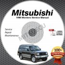 1998 Mitsubishi Montero Service Manual CD ROM 3.5L 6G74  repair workshop
