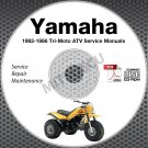 1982-1986 Yamaha TRI-MOTO YT125 YTM200 YTM225 Service Manual CD repair shop 85