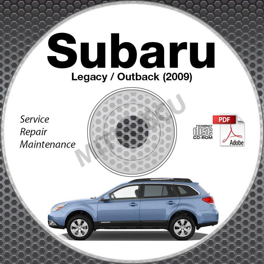 2009 SUBARU LEGACY & OUTBACK OEM Service Manual CD ROM 2.5L 3.0L repair shop