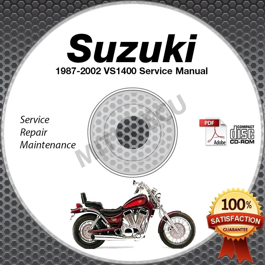 1987-2002 Suzuki VS1400 INTRUDER Service Manual CD ROM Repair shop 88 89 90 91