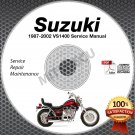 1987-2002 Suzuki VS1400 INTRUDER Service Manual CD ROM Repair shop 88 89 90 91