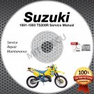 1991 1992 1993 Suzuki TS200R Service Manual CD ROM Repair shop