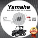 2006-2009 Yamaha RHINO 450 Service Manual CD repair shop LIT-11616-RH-47 2007 08