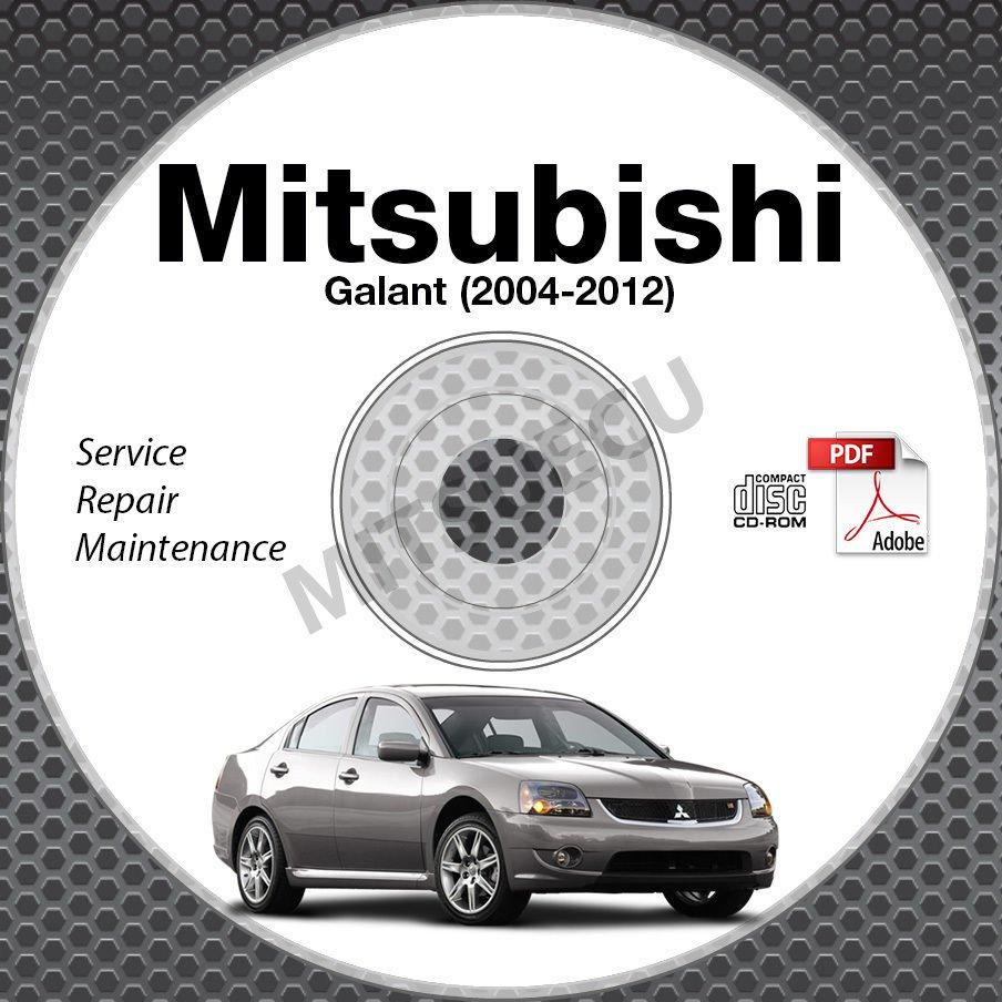 mitsubishi galant service manual cd rom repair