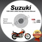 1986-2002 Suzuki LS650 Savage Service Manual CD ROM Repair shop 1987 1988 1989
