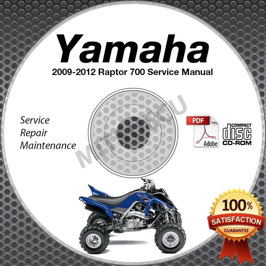 2009-2012 Yamaha RAPTOR 700 R YFM7R Service Manual CD ROM repair shop 2010 2011