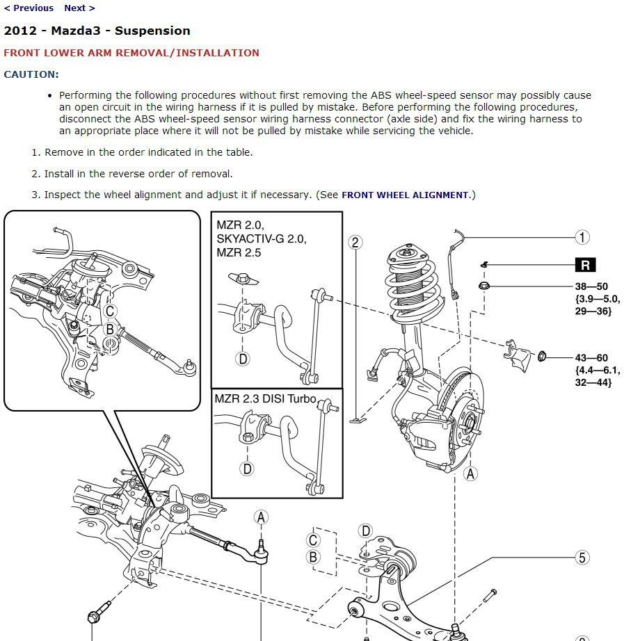 2012 Mazda3 / Mazdaspeed3 Service Manual CD workshop repair 2.0L SkyActiv 2.5L