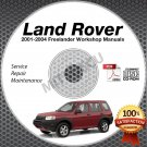 2001-2004 Land Rover FREELANDER Service Repair Manual CD ROM 2002 2003 workshop