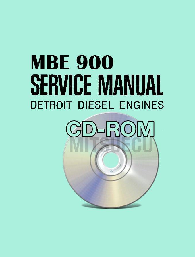 Detroit Diesel EPA04 MBE 900 Service Manual CD (6SE414) Repair Shop